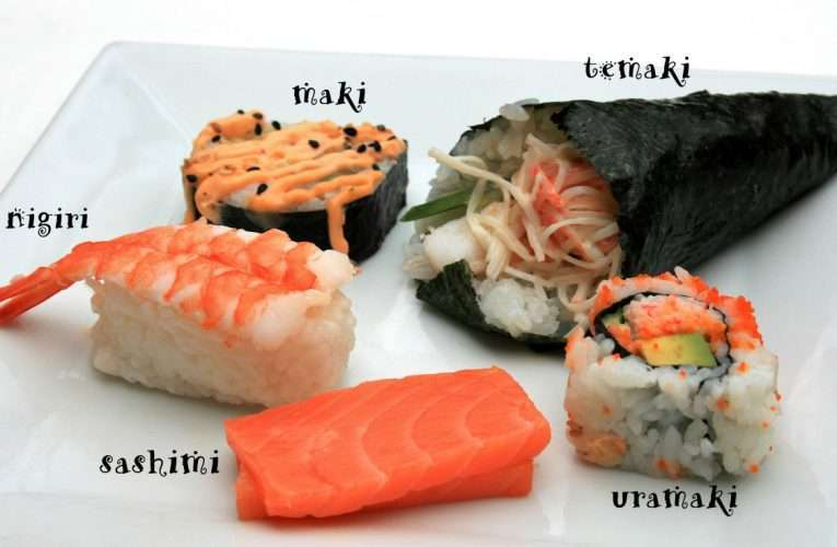 5 Different Types of Sushi